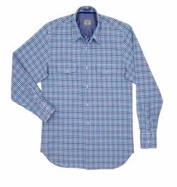 Alara  - Multi Check Button Down Twill Sport Shirt