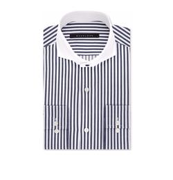 Sean John - Classic/Regular Fit Navy Stripe Dress Shirt