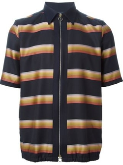 Paul Smith - Striped Short Sleeved Zipped Jacket