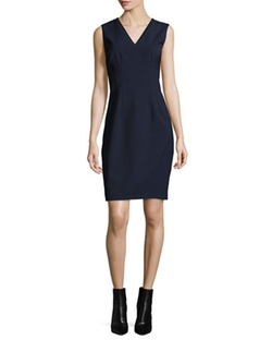Elie Tahari  - Gwenyth Sleeveless V-Neck Sheath Dress