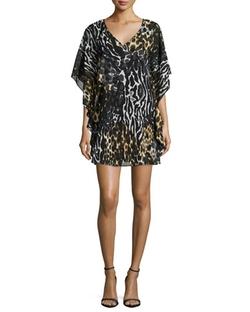 Trina Turk   - Mega Leopard-Print Caftan Dress