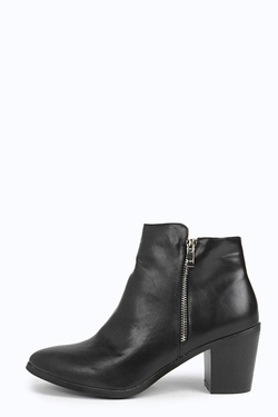 Boohoo - Zip Ankle Boots