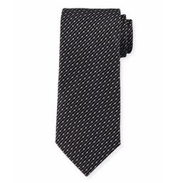 Giorgio Armani - Dot & Slash Neat Printed Tie