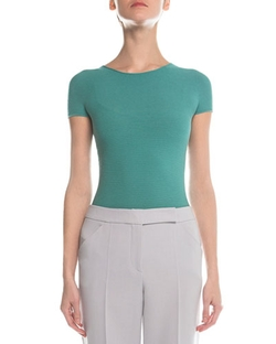 Giorgio Armani - Knit Short-Sleeve Top