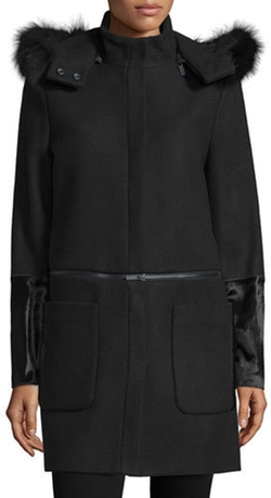 Zac Zac Posen  - Parker Fur-Trim Convertible Coat