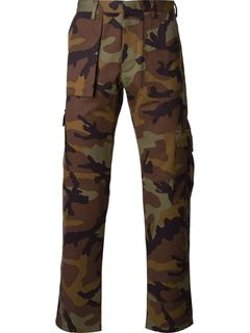 Valentino - Camouflage Straight Leg Trousers