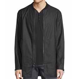 John Varvatos Star USA  - Linen-Blend 3/4-Length Zip-Up Jacket