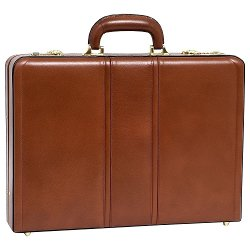 McKleinUSA - Daley Brown Leather Attache Case