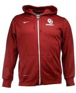Nike  - Oklahoma Sooners Sideline Ko Full-Zip Hoodie Jacket