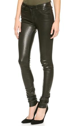 J Brand  - L624 Stacked Leather Skinny Pants