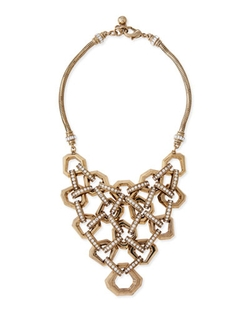Lulu Frost	  - Narcissus Crystal Bib Necklace