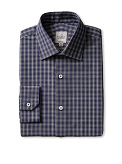 Hardy Amies - Checked Dress Shirt