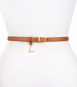 Valentino - Skinny Leather V-Charm Waist Belt