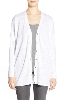 Eileen Fisher  - Organic Cotton V-Neck Cardigan