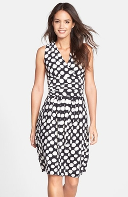 Eliza J -  Print Jersey Fit & Flare Dress