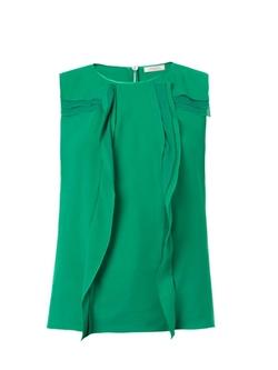 Nina Ricci - Vertical Ruffle Silk Blouse