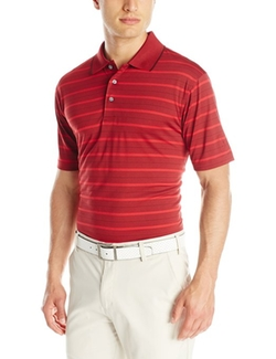PGA Tour - Performance Golf Striped Polo Shirt