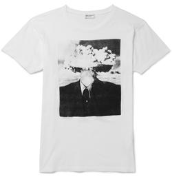 Saint Laurent - Printed Cotton-Jersey T-Shirt