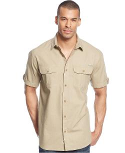 Field & Stream  - Double Pocket Linen-Blend Shirt