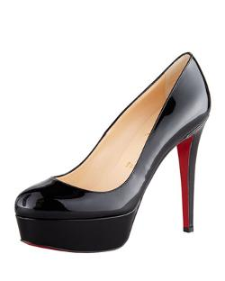 Christian Louboutin - Bianca Almond-Toe Platform Red Sole Pump