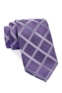 Isaac Mizrahi  - Windowpane Silk Tie