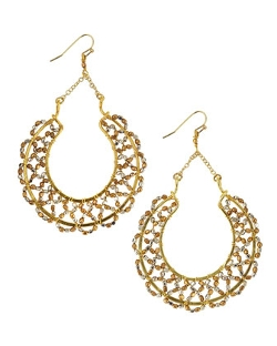 Nakamol - Scallop-Beaded Horseshoe Drop Earrings