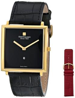 Steinhausen  - Analog Display Swiss Quartz Black Watch