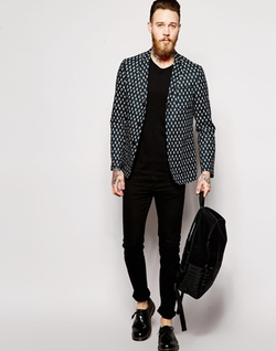 Asos - Slim Fit Blazer In Print