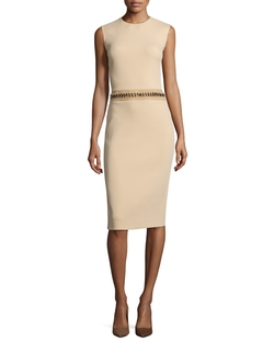 Ralph Lauren  - Sleeveless Jewel-Neck Sheath Dress