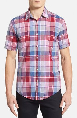 Boss Hugo Boss  - Marco Slim Fit Short Sleeve Plaid Sport Shirt