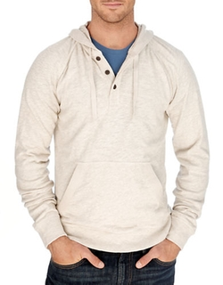 Lucky Brand - Hooded Henley Tee