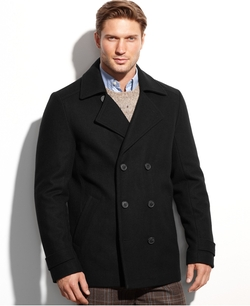 Calvin Klein - Double-Breasted Pea Coat