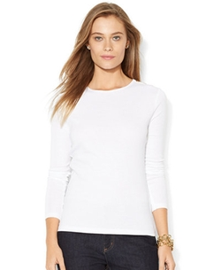 Lauren Ralph Lauren - Crew Neck Long Sleeve Tee