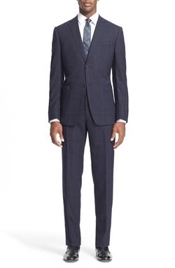 Z Zegna - Trim Fit PlaidWool Suit