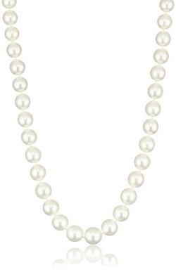 "Radiance Pearls - Pearl Jewelry"" 14K Gold Clasp White South Sea Cultured Pearl Necklace"