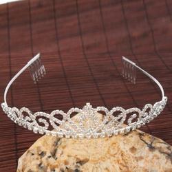 Follsy - Gorgeous Pretty Rhinestone Tiara Crown