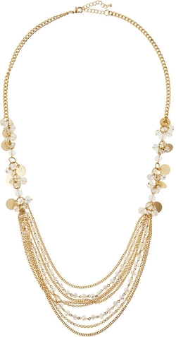 Fragments for Neiman Marcus - Beaded Cluster Bib Necklace