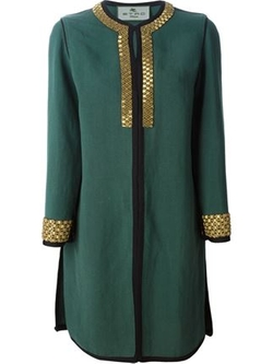 Etro  - Beaded Trim Fitted Coat