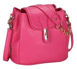 YMB - Faux Leather Satchel Shoulder Bag