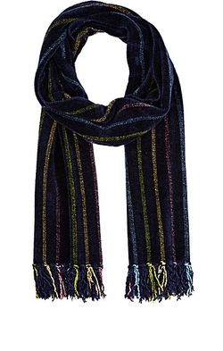 Barneys New York - Striped Chenille Scarf