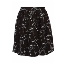 Thakoon Addition  - Lace-Trimmed Printed Crepe Skirt