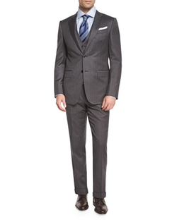 Ermenegildo Zegna - Herringbone Three-Piece Wool Suit
