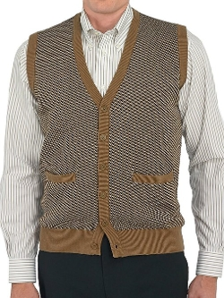 Paul Fredrick - Button Front Cardigan Sweater Vest