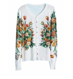 Clothink - Floral Pattern Cardigan