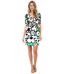 Donna Morgan - Short Sleeve Floral Jersey Dress