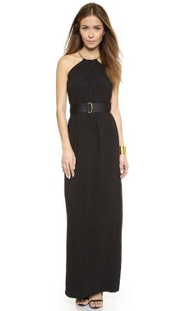 Halston Heritage - Shirred Neck Gown Dress