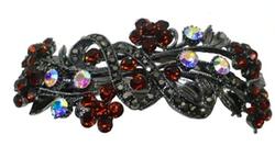 Bella - Large Crystal Barrette Clip