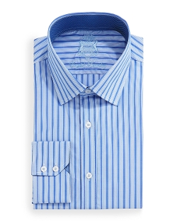 English Laundry - Trim-Fit Woven Stripe Dress Shirt