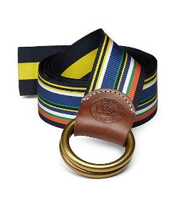 Polo Ralph Lauren - Reversible Striped Ribbon Belt