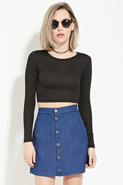 Forever21 - Ribbed Knit Crop Top